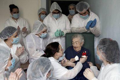 The winner of the 2021 Ortega y Gasset Award for Best Photograph, taken at a senior residence in northwestern Spain.