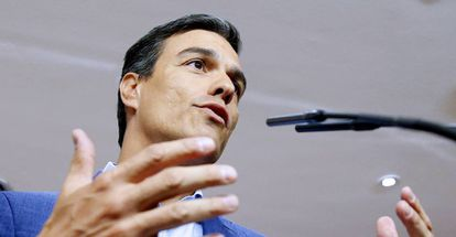 Socialist Party leader Pedro Sánchez in Congress on Wednesday.