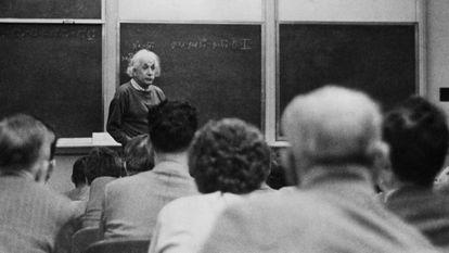 Albert Einstein at Princeton University in 1933.