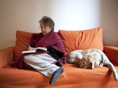 Esther Tusquets, photographed at home in 2010.