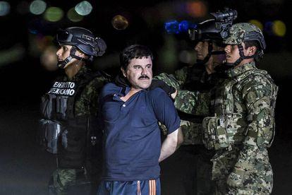 Joaquín Guzmán, 'El Chapo', after he was arrested in January 2016.