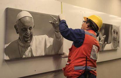The city of Bogotá gets ready for the arrival of Pope Francis on Wednesday.