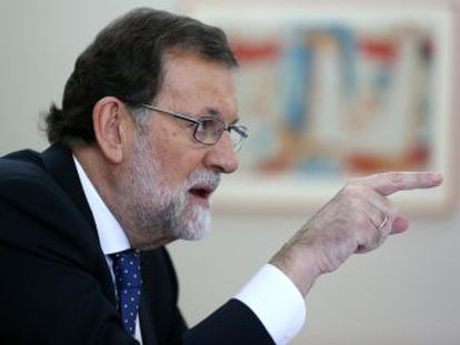 In an exclusive interview with EL PAÍS, Mariano Rajoy stands firm in the face of the separatist challenge, ahead of a session in the regional parliament at which an independence declaration could be made