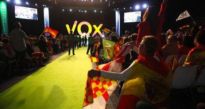 Vox rally in Vistalegre.
