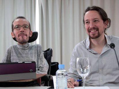 Pablo Echenique and Pablo Iglesias.