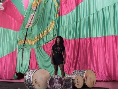 Squel Jorgea Ferreira Vieira in the Mangueira samba school in Río de Janeiro.