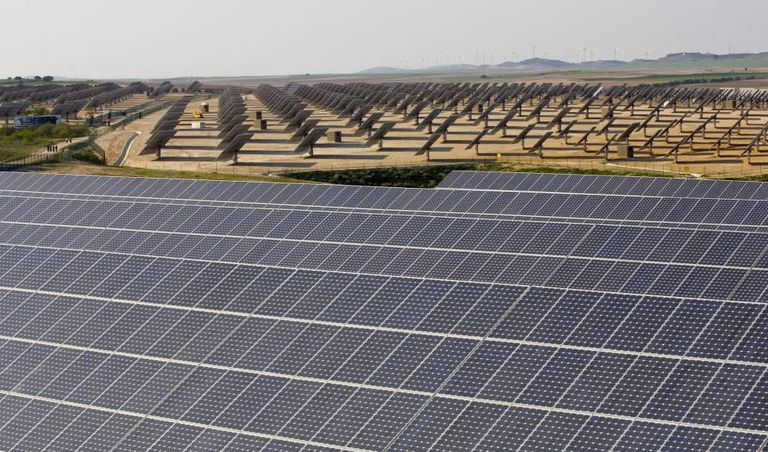 A solar power plant in Spain.