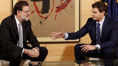 Mariano Rajoy and Albert Rivera, during their meeting last week.