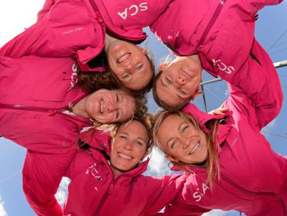 The five confirmed team members (clockwise from bottom): Wardley, Cizcek, Brouwer, Lush and Davies.