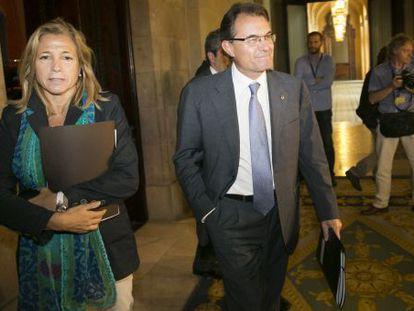 Joana Ortega with Artur Mas.
