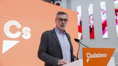 Ciudadanos general secretary José Manuel Villegas in a file photo.