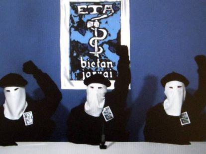 ETA announcing a permanent ceasefire in October 2011.
