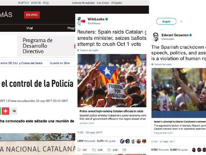 News stories about the Catalonia independence issue.