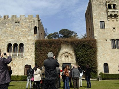 Visitors at the Pazo de Meirás, which a court has ruled is the property of the Spanish state, not Franco's family.