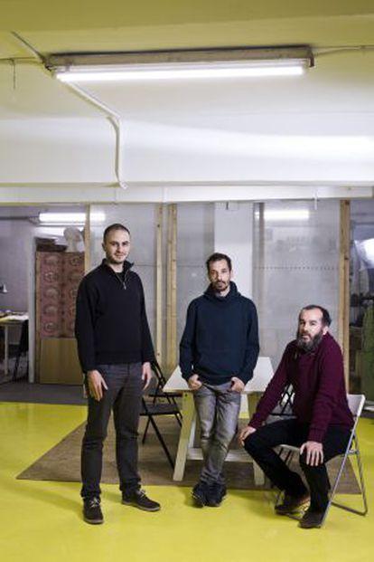 Miguel Arana, Carlos Barragan and Yago Bermejo, creators of Laboratorio Democrático.
