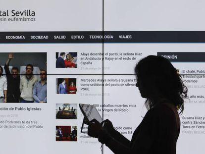 The homepage of 'Digital Sevilla'.