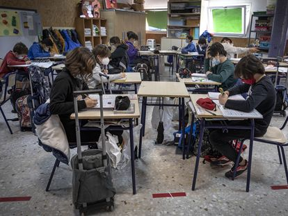 Students in Valencia during the previous academic year.