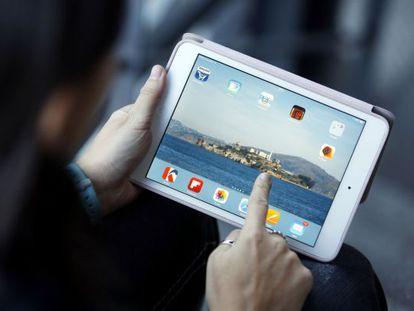 The iPad mini Retina by Apple.  .
