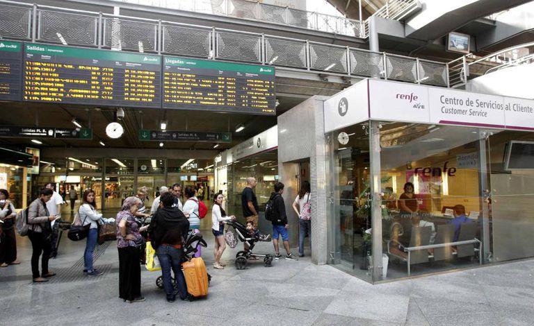 Renfe train station in Atocha.
