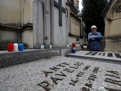 The grave of Croatian dictator Ante Pavelić in San Isidoro cemetery in Madrid.