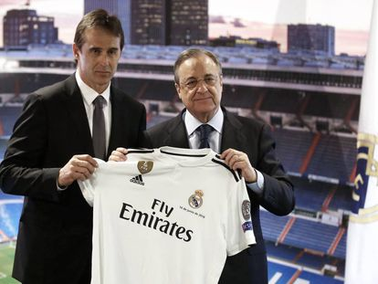 Lopetegui and Real Madrid chairman Florentino Pérez on Thursday.