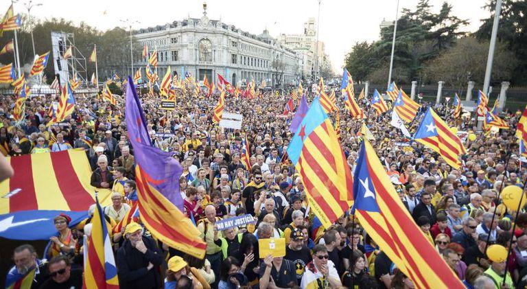 Saturday's demonstration in Madrid.
