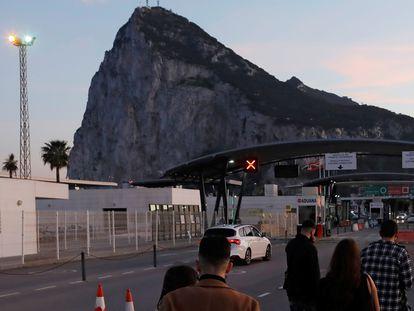 Border control at Gibraltar.