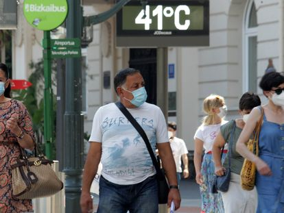The temperature in Bilbao was close to the city's all-time high on Thursday.