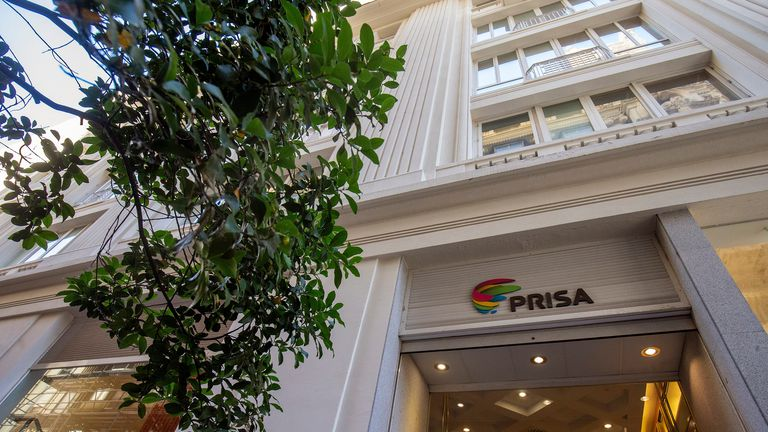 The headquarters of PRISA on the Gran Vía in Madrid.