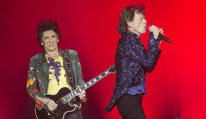 The Rolling Stones at the Olympic Stadium in Barcelona.