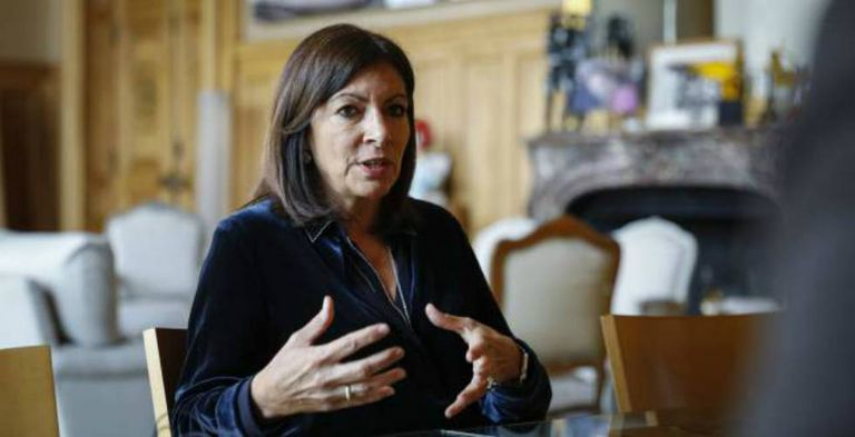Anne Hidalgo, the mayor of Paris, in her office.