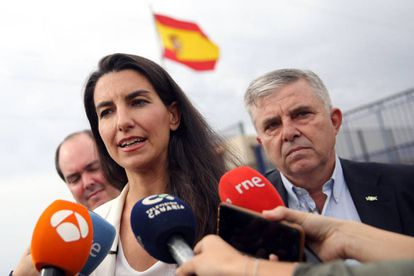 Rocío Monasterio of the far-right Vox party.