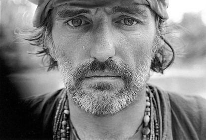 Dennis Hopper, in a photo taken by Mary Ellen Mark during the shooting of Apocalypse Now in 1976.
