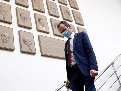 Science Minister Pedro Duque at the Senate.