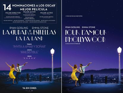 The Spanish and Canadian posters for 'La La Land.'