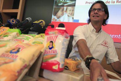 Lorenzo Mendoza, the billionaire businessmen who oversees Empresas Polar.
