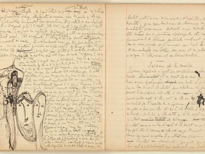 A page from the manuscript of 'In Search of Lost Time.'