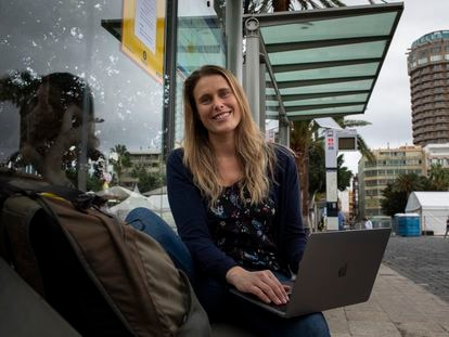 Briton Liz Clitheroe has come to the Canary Islands to work remotely until at least January.