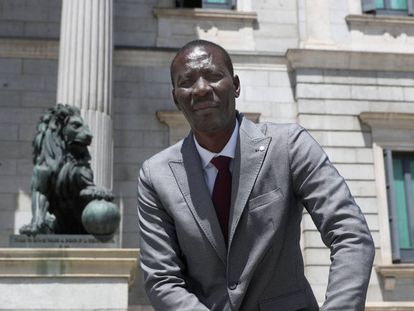 Luc André Diouf, newly-elected lawmaker for the Socialist Party.