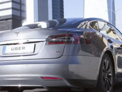 The Tesla model to be used in Madrid.