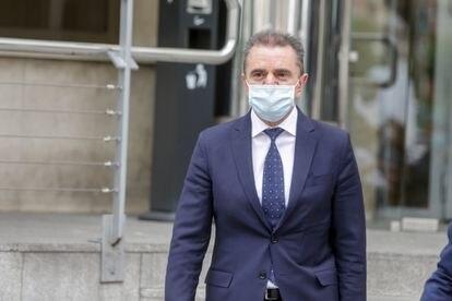 Government delegate José Manuel Franco leaving court in Madrid.