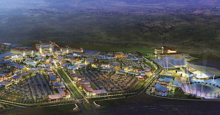 A rendition of the resort planned by The Cordish Companies outside Madrid.
