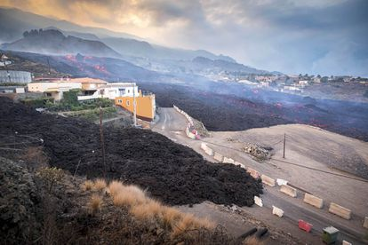 The lava flow in El Paso on Monday.