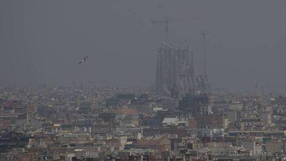 Pollution in Barcelona in July 2019.