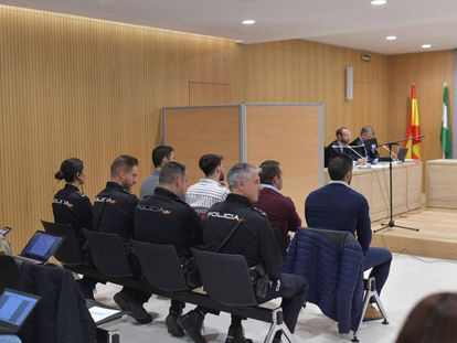 Four members of La Manada stand trial for sexually abusing a woman in Pozoblanco.