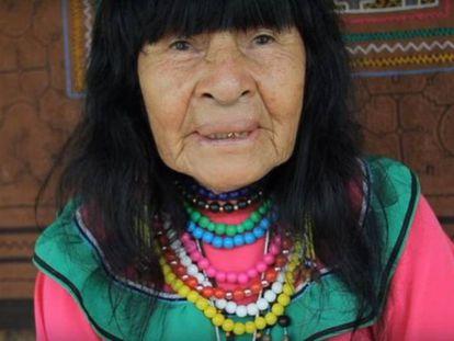 81-year-old healer Olivia Arévalo Lomas.