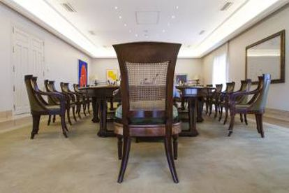 The prime minister's seat at the Council of Ministers table.