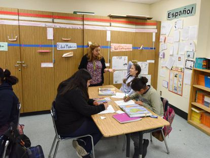Spanish students in Los Angeles.