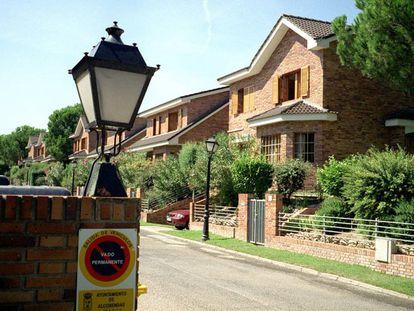 Spain's wealthiest suburb, La Moraleja in Madrid.