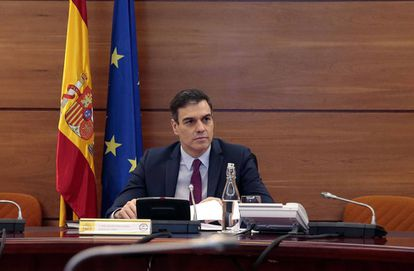 Prime Minister Pedro Sánchez during a meeting last week.
